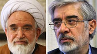 موسوی و کروبی به خاطر اعتراض به نتیجه انتخابات همچنان در حصر خانگی به سر میبرند