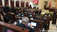 Sitzung des weißrussischen Parlaments in der Zeit der Corona-Krise Weißrussland