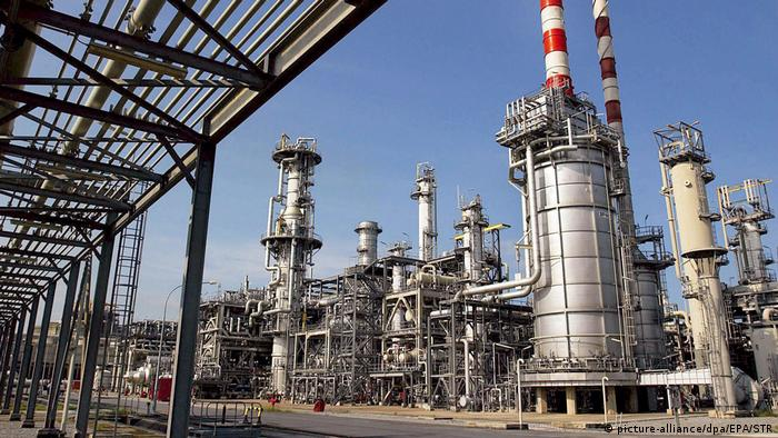 Natural gas and oil facities in Nigeria