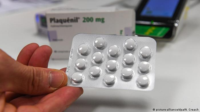 Comprimidos do medicamento antimalárico Plaquenil (hidroxicloroquina)