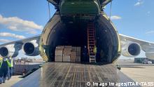 USA Russland | humanitäre Hilfe zur Bekämpfung des Coronavirus | Flugzeugs (Antonow-124 )