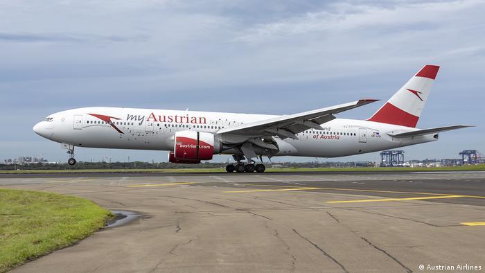 Auf geht's nach Hause: Die Boeing 777 beim Start in Sydney