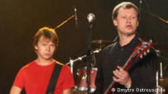Ukrainische Rock Band Shchastia Dmytro Ostrouschko