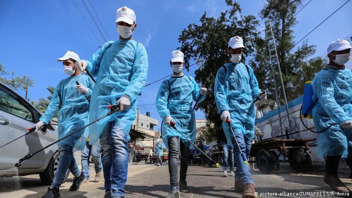 Lucha contra el coronavirus en la Franja de Gaza.