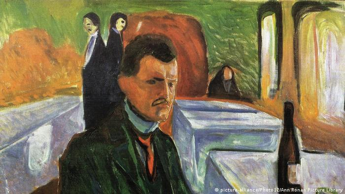 Edvard Munch in a self-portrait (picture-alliance/Photo12/Ann Ronan Picture Library)