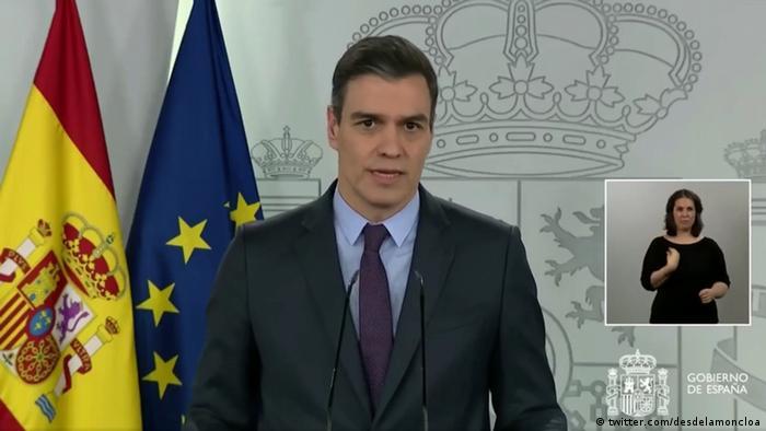 Spanien Madrid | Coronavirus | Pedro Sanchez, Ministerpräsident (twitter.com/desdelamoncloa)