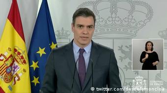 Spanien Madrid | Coronavirus | Pedro Sanchez, Ministerpräsident