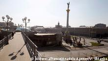 Ukraine Kiew | Coronavirus | Platz der Unabhängigkeit, leer