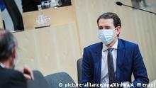 Coronavirus - Österreich Sebastian Kurz Mundschutz