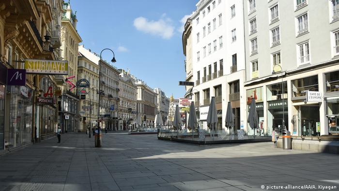 Wien Coronavirus Lockdown Innenstadt (picture-alliance/AA/A. Kiyagan)