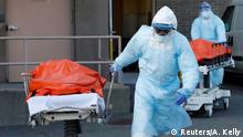 New York City Coronavirus Krankenhaus Abtransport Leiche
