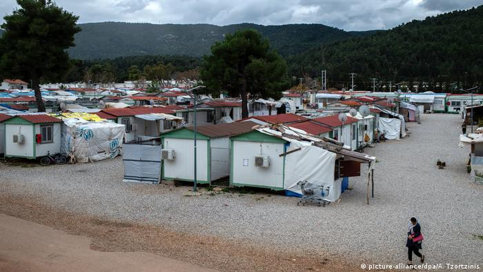 Refugee camp in Malakasa, Greece