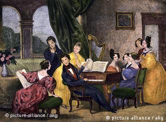 Chopin la pian. O litografie de Achille Deveria