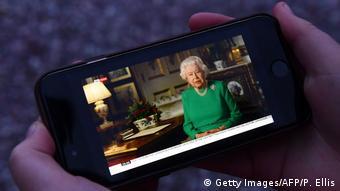 Großbritannien | Coronavirus | Ansprache Königin Elizabeth II. (Getty Images/AFP/P. Ellis)