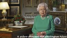 Großbritannien | Coronavirus | Ansprache Königin Elizabeth II. (picture-alliance/AP Photo/Buckingham Palace)