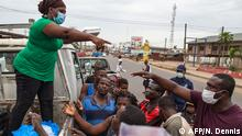 Coronavirus Ghana Accra Regierung verteilt Lebensmittel