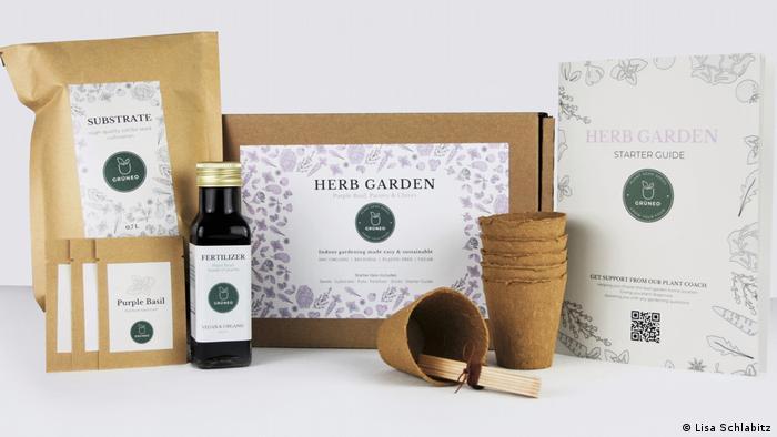 Grüneo's Herb Garden Box content