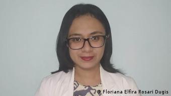 Dokter Floriana Elfira Rosari Dugis, salah seorang dokter di Puskesmas Watu Alo, Kabupaten Manggarai, Provinsi NTT.