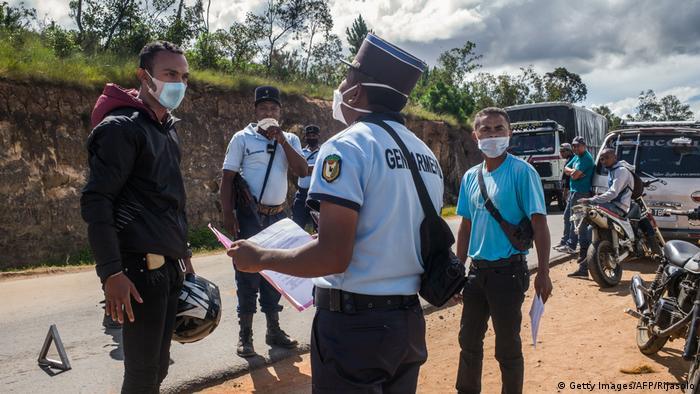 Madagaskar Corona-Pandemie polizei