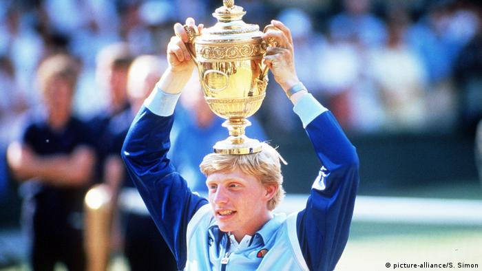 Boris Becker Wimbledon 1985 (picture-alliance/S. Simon)