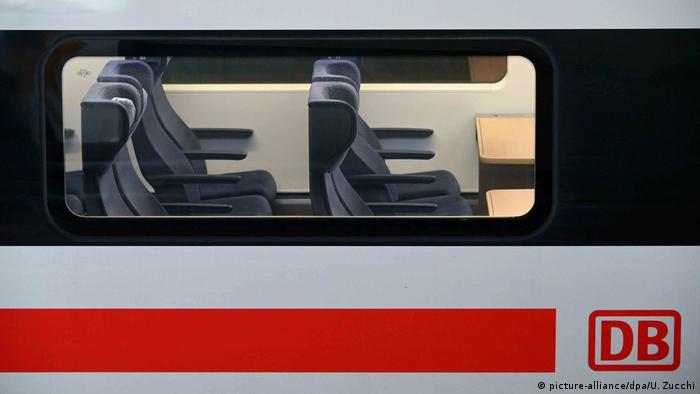 Empty seats on a Deutsche Bahn high-speed train