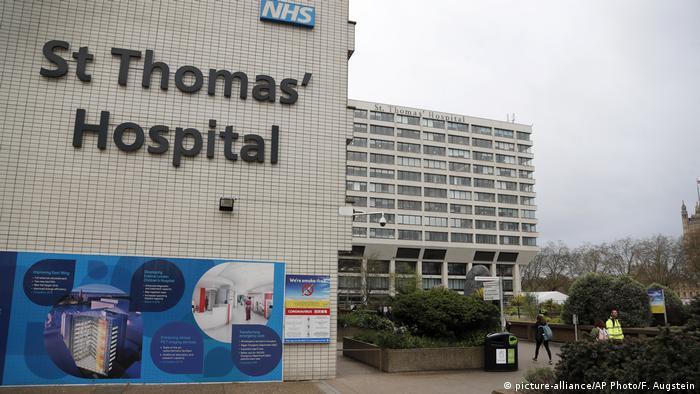 Лондонская больница Святого Томаса, где в отделении интенсивной терапии проходит лечение премьер-министр Великобритании Борис Джонсон