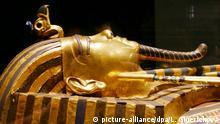 Sarkophag des Pharao Tutanchamun, Ägypten, Afrika