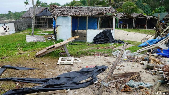 Devastation caused by cyclone Harold on Vanuatu