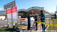 Usbekistan Taschkent | Coronavirus | Polizei, Temperaturmessung