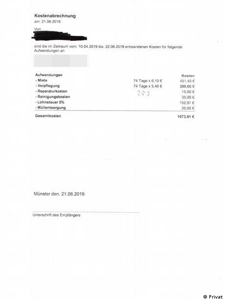 Lohnabrechnung Saisonarbeiter aus Rumänien (Privat)