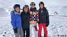Martina Büchinger mit Familie in Ischgl Österreich