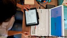 Frankreich   Coronavirus   Online-Unterricht