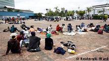 Südafrika Durban | Coronavirus | Obdachlose Temperaturmesserung