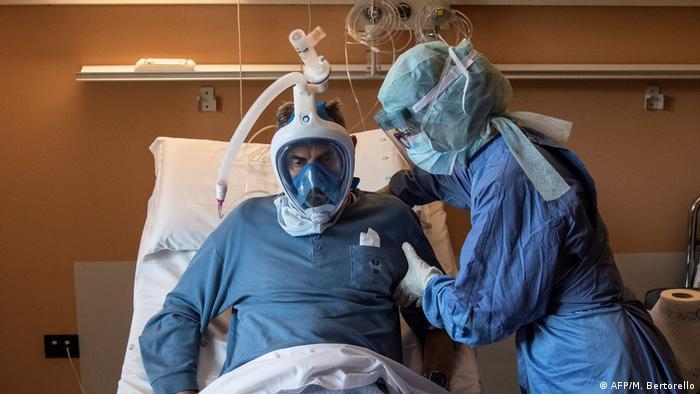 BdTD Italien Turin Patient mit Schnorchelmaske