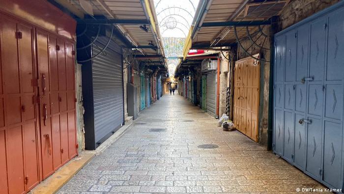 An empty street in Jerusalem's Old City