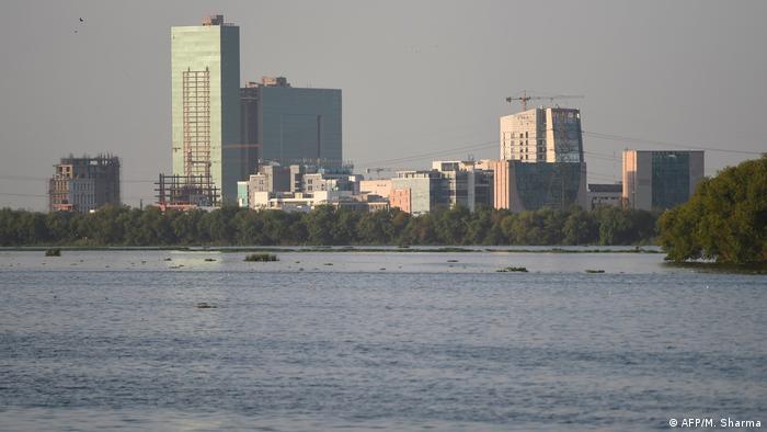 Indien Neu Delhi Yamuna Fluss sauber nach Lockdown