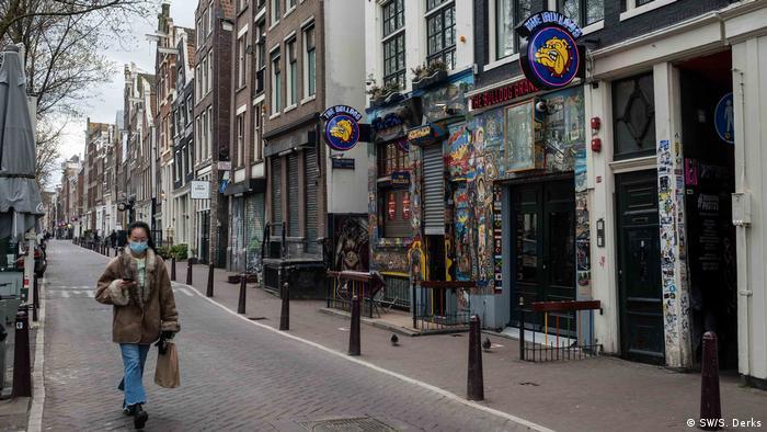 Niederlande Coronavirus Gähnende Leere in Amsterdam