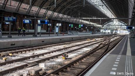 Amsterdam's empty central station