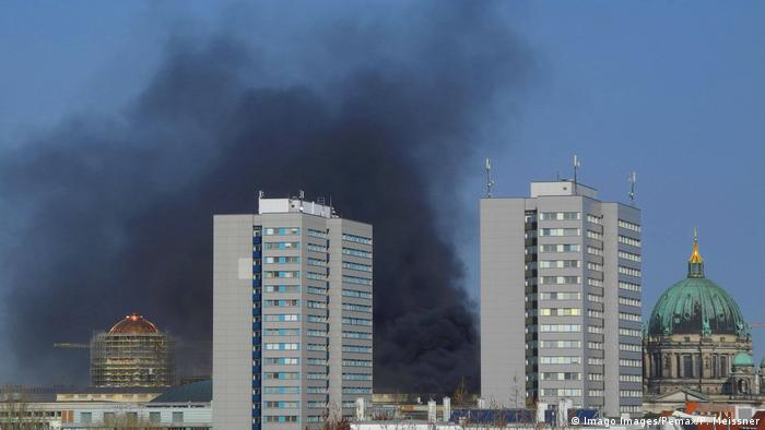 Fire on Humboldt Forum construction site