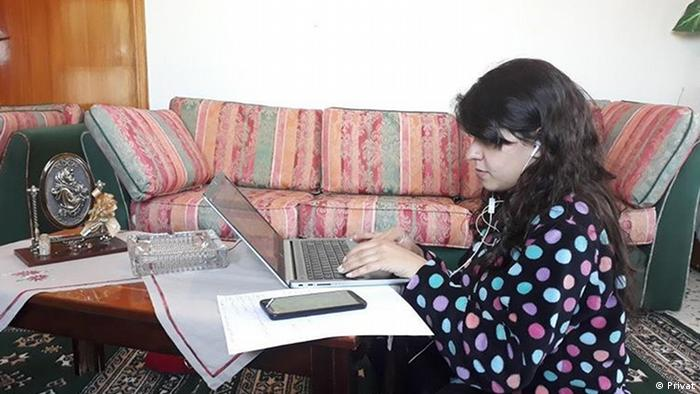 Ghina Mansour in her home in Lebanon