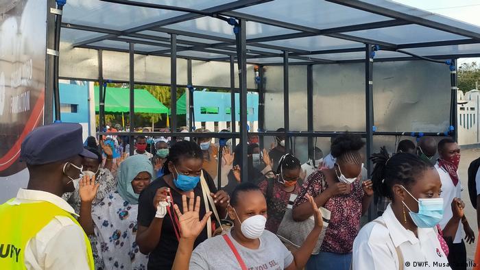 Kenia Mombasa | Coronavirus | Desinfektionsraum
