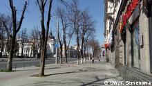 Moldawien Chisinau Straßen während der Ausgangssperre wegen Coronavirus
