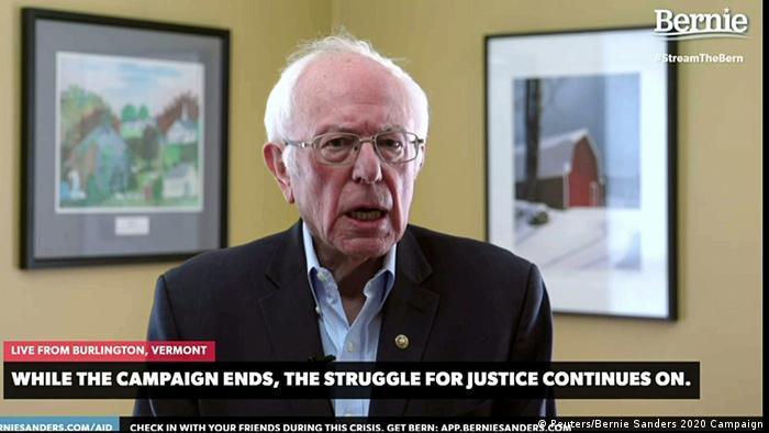USA Burlington | Bernie Sanders, Bekanntgabe Rücktritt Präsidentschaftskandidatur (Reuters/Bernie Sanders 2020 Campaign)