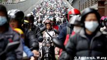Commuters wear face masks to protect themselves from the coronavirus disease (COVID-19) spread during morning rush hour traffic in Taipei, Taiwan April 8, 2020. REUTERS/Ann Wang TPX IMAGES OF THE DAY