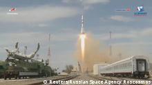 Soyuz MS-16 ISS Start Baikonur Cosmodrome Kasachstan