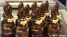 Schokoladen Osterhasen mit Mundschutz