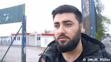 Ali Saad, Geflüchteter aus Syrien, hat Angst, seine Familie könnte sich mit dem Covid-19 anstecken. Copyright: Mariel Müller, DW.