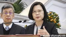 Archiv: Taiwan Taipei | Coronavirus: Tsai Ing-Wen während Pressekonferenz