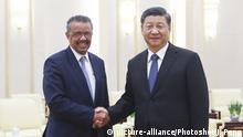 China Peking | Xi Jinping trifft WHO Direktor Tedros Adhanom Ghebreyesus