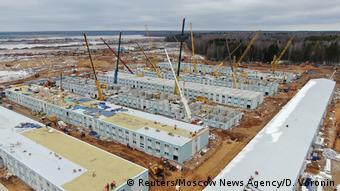 Строящийся недалеко от Москвы госпиталь для больных COVID-19
